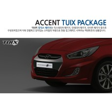 TUIX FRONT BUMPER COVER KIT FOR HYUNDAI NEW ACCENT WIT / SOLARIS 2013-15 MNR