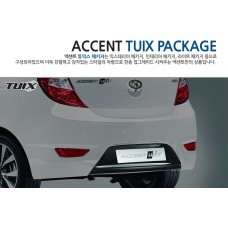 TUIX REAR BUMPER COVER KIT FOR HYUNDAI NEW ACCENT WIT / SOLARIS 2013-16 MNR