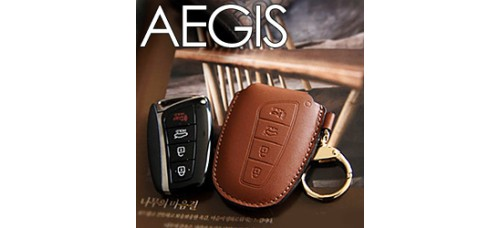 AEGIS HYUNDAI 5G GRANDEUR HG - SMART KEY LEATHER KEY HOLDER SEASON 1 (WITH STRAP)