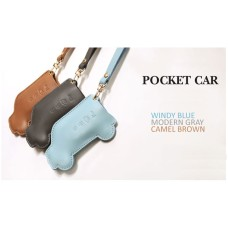 AEGIS HYUNDAI I40 - POCKET CAR SMART KEY LEATHER KEY HOLDER (4 BUTTONS)