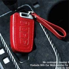 AEGIS HYUNDAI GENESIS - CUSTOM MADE SMART KEY LEATHER KEY HOLDER (4 BUTTONS)