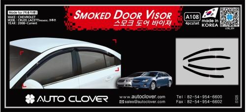 AUTOCLOVER  SMOKED DOOR VISOR SET FOR CHEVROLET CRUZE 2011-15 MNR