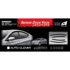AUTOCLOVER SMOKED DOOR VISOR SET FOR HYUNDAI AVANTE  ELANTRA 2010-15 MNR