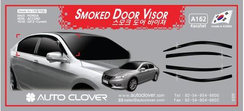 AUTOCLOVER SMOKED DOOR VISOR SET FOR HONDA ACCORD 2012-15 MNR