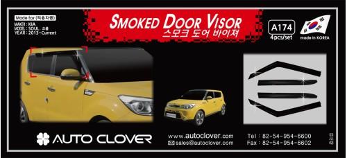 AUTOCLOVER SMOKED DOOR VISOR SET FOR KIA SOUL 2013-15 MNR