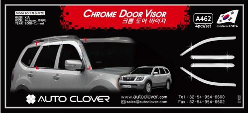 AUTOCLOVER CHROME DOOR VISOR SET FOR KIA MOHAVE / BOREGO 2008-15 MNR