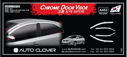 AUTOCLOVER CHROME DOOR VISOR SET FOR KIA FORTE CERATO 2008-12 MNR