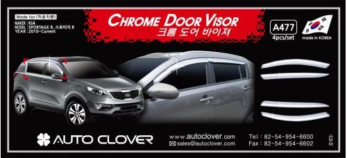AUTOCLOVER CHROME DOOR VISOR SET FOR KIA SPORTAGE R 2010-15 MNR