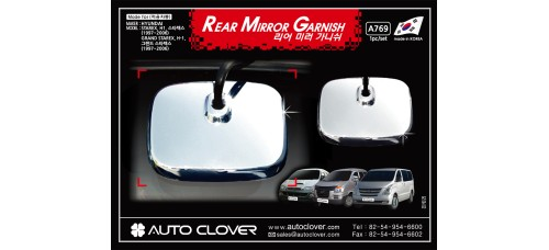 AUTOCLOVER REAR MIRROR GARNISH SET FOR HYUNDAI GRAND STAREX 2007-15 MNR