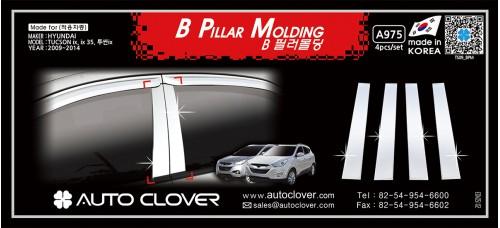 AUTOCLOVER B PILLAR MOLDING FOR HYUNDAI TUCSON IX35 2009-15 MNR