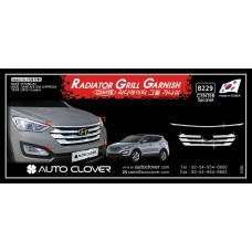 AUTOCLOVER RADIATOR GRILL GARNISH SET FOR HYUNDAI SANTA FE 2012-15 MNR