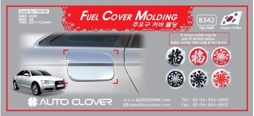 AUTOCLOVER FUEL COVER MOLDING SET FOR AUDI A6 2011-15 MNR