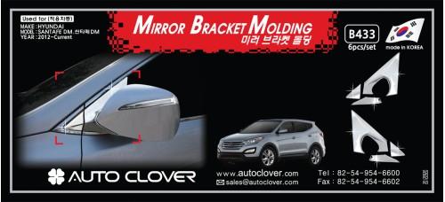 AUTOCLOVER MIRROR BRACKET MOLDING SET FOR SANTA FE DM 2012-15 MNR