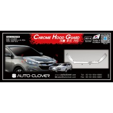 AUTOCLOVER CHROME HOOD GUARD SET FOR TUCSON IX35 2009-15 MNR