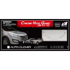 AUTOCLOVER CHROME HOOD GUARD SET FOR HYUNDAI SANTA FE 2012-15 MNR