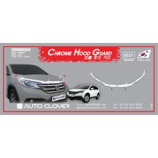 AUTOCLOVER CHROME HOOD GUARD SET FOR HONDA CRV 2012-15 MNR