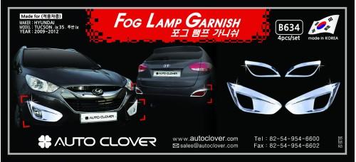 AUTOCLOVER FOG LAMP GARNISH SET FOR TUCSON IX35 2009-15 MNR