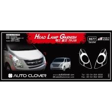 AUTOCLOVER HEAD LAMP GARNISH SET FOR GRAND STAREX 2007-15 MNR