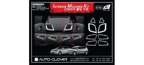 AUTOCLOVER INTERIOR  MOLDING KIT SET FOR HYUNDAI ACCENT / SOLARIS 2011-15 MNR