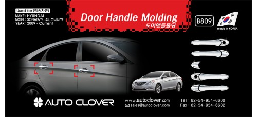 AUTOCLOVER DOOR HANDLE MOLDING SET FOR HYUNDAI SONATA 2009-15 MNR
