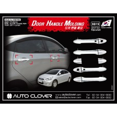 AUTOCLOVER DOOR HANDLE MOLDING (SMART) SET FOR HYUNDAI ACCENT 2011-15 MNR