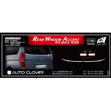 AUTOCLOVER REAR WINDOW ACCENT SET FOR HYUNDAI GRAND STAREX 2007-15 MNR