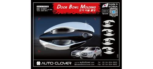 AUTOCLOVER DOOR BOWL MOLDING SET FOR HYUNDAI TUCSON IX35 2009-15 MNR