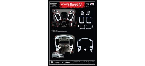 AUTOCLOVER INTERIOR MOLDING KIT SET FOR HYUNDAI GRAND STAREX 2007-15 MNR