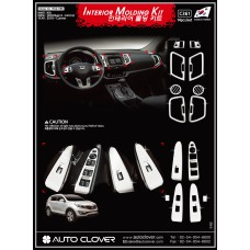 AUTOCLOVER INTERIOR MOLDING  KIT SET FOR KIA SPORTAGE R 2010-15 MNR