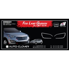 AUTOCLOVER FOG LAMP GARNISH SET FOR HYUNDAI SANTA FE 2012-15 MNR
