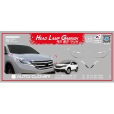 AUTOCLOVER HEAD LAMP GARNISH SET FOR HONDA CRV 2012-14 MNR