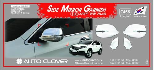 AUTOCLOVER SIDE MIRROR GARNISH SET FOR HONDA CRV 2012-15 MNR