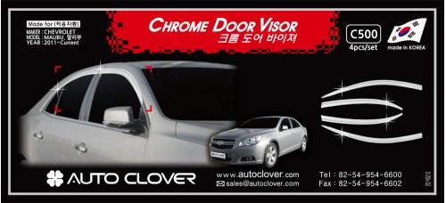 AUTOCLOVER CHROME DOOR VISOR SET FOR CHEVROLET MALIBU 2011-15 MNR