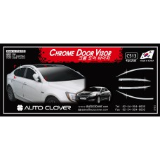 AUTOCLOVER CHROME DOOR VISOR SET FOR KIA K7 2009-15 MNR
