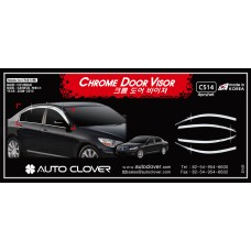 AUTOCLOVER CHROME DOOR VISOR SET FOR HYUNDAI GENESIS 2008-13 MNR