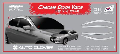 AUTOCLOVER CHROME DOOR VISOR SET FOR HONDA ACCORD 2012-15 MNR