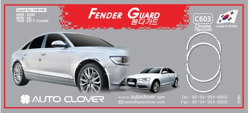 AUTOCLOVER FENDER GUARD_CH SET FOR AUDI A6 2011-15 MNR