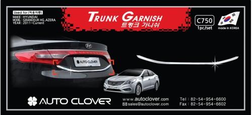 AUTOCLOVER TRUNK GARNISH SET FOR HYUNDAI GRANDEUR HG 2011-15 MNR