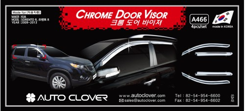 AUTOCLOVER CHROME DOOR VISOR FOR KIA SORENTO R 2012-13 MNR