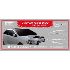 AUTOCLOVER CHROME DOOR VISOR SET FOR TOYOTA CAMRY 2012-14 MNR