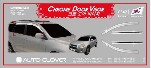 AUTOCLOVER CHROME DOOR VISOR  SET FOR TOYOTA RAV4 2006-12 MNR