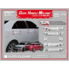 AUTOCLOVER DOOR HANDLE MOLDING SET FOR TOYOTA CAMRY 2012-15 MNR