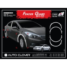 AUTOCLOVER FENDER GUARD_C SET FOR KIA K3 CERATO 2012-15 MNR