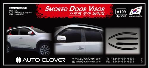 AUTOCLOVER SMOKED DOOR VISOR FOR KIA SORENTO R 2012-13 MNR