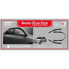 AUTOCLOVER SMOKED DOOR VISOR  SET FOR TOYOTA COROLLA 2011-13 MNR