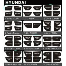 BRICX - LED INSIDE DOOR CATCH PLATES SET FOR HYUNDAI VEHICLES
