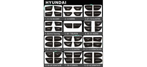 BRICX - LED INSIDE DOOR CATCH PLATES SET FOR HYUNDAI VEHICLES