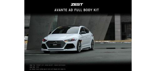 ZEST- AERO PARTS FULL BODY KIT FOR HYUNDAI AVANTE AD / ELANTRA 2015-17 MNR
