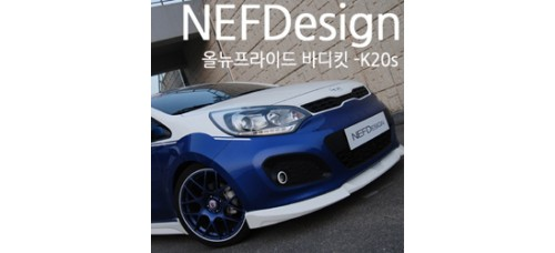NEFDESIGN-K20S BODY KIT LIP AEROPARTS FULL SET FOR KIA ALL NEW PRIDE HATCHBACK 2011-14 MNR