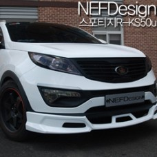 NEFDESIGN - FRONT LIP AEROPARTS BODY KIT KS50U FOR KIA SPORTAGE R 2010-13 MNR